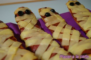 pan pizza halloween momia