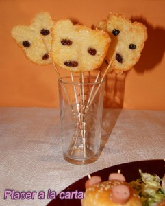 piruletas de queso mickey mouse